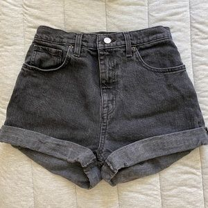 Urban Outfitters black jean, high waisted shorts